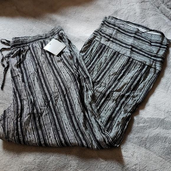 b702fd0c1a Falls Creek Pants | Black White Striped Wide Leg | Poshmark